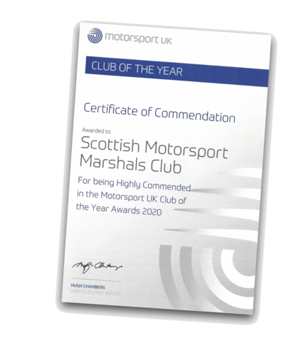 SMMC Highly Commended by Motorsport UK