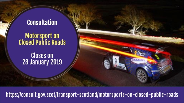 Respond to the Transport Scotland consultation on proposals to enable closed-road motorsport