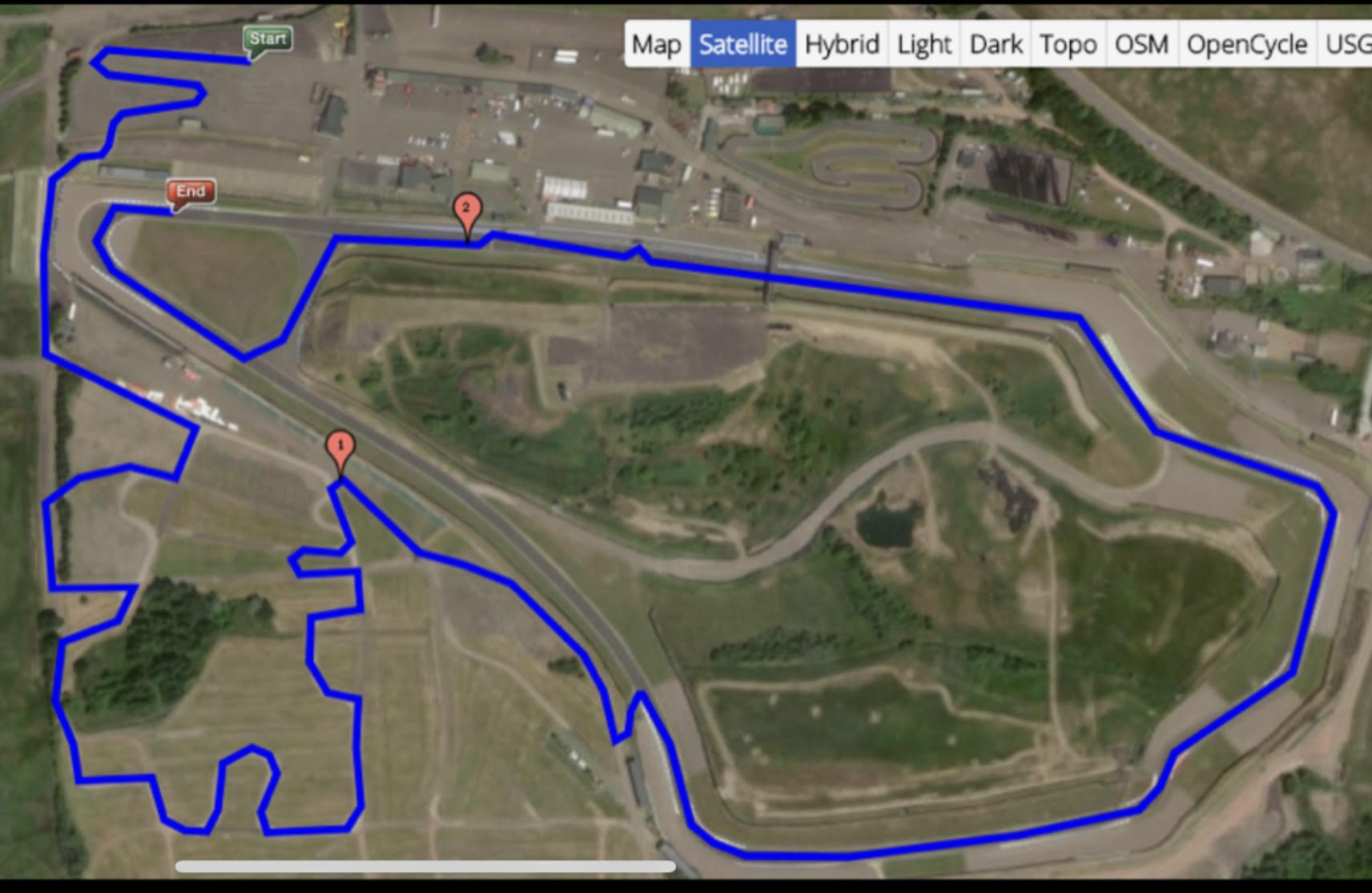 Rally route - Knockhill Circuit
