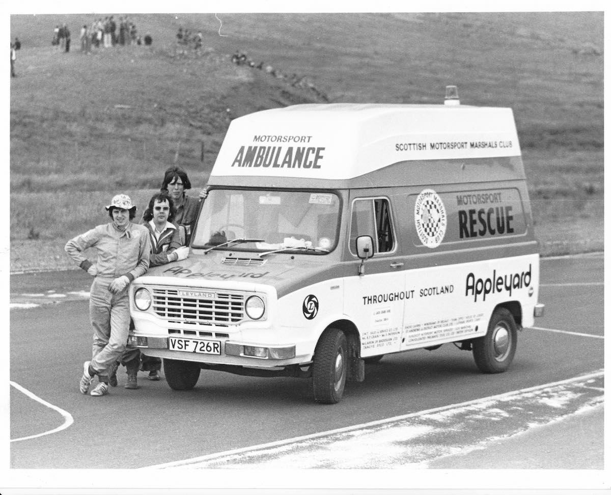 Rescue 1 at Knockhill in Spring 1977