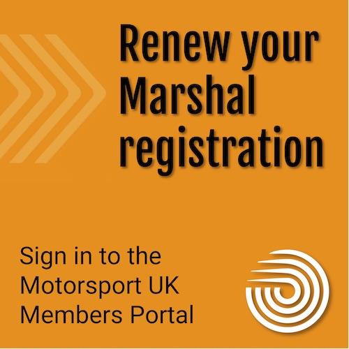 Renew your Marshal Registration
