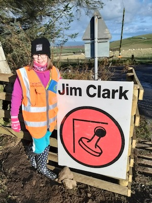 Katie - cadet marshal at the Jim Clark Rally